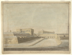 North view of the Water Gate and Royal Barracks Fort William